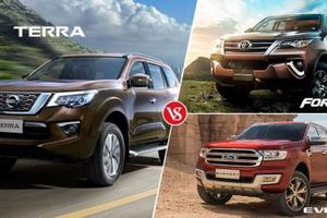 Vietnam Motor Show 2019: 'Cân sức khỏe' Ford Everest - Nisan Terra - Toyota Fotuner trước khi 'xuống tiền'