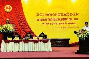 HĐND huyện Thạch Thất quyết nghị các nội dung quan trọng thúc đẩy phát triển kinh tế - xã hội