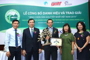 Laguna Lăng Cô nhận giải thưởng 'Sân golf tốt nhất Việt Nam năm 2019'