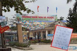 Trường Mầm non Bá Xuyên tự ý thu khi chưa được Phòng Giáo dục phê duyệt