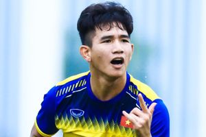 Pha bay người đánh đầu mở tỷ số cho U19 Việt Nam trước Sarajevo