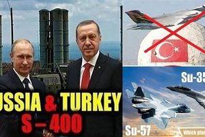 Thổ quyết mua Su-35 và Su-57 Nga, vĩnh biệt F-35 Mỹ!