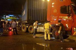 Nam công nhân bị xe container đâm tử vong