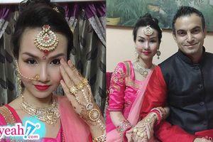 Võ Hạ Trâm đẹp chuẩn phụ nữ Ấn Độ khi về quê chồng tham gia lễ hội truyền thống Diwali