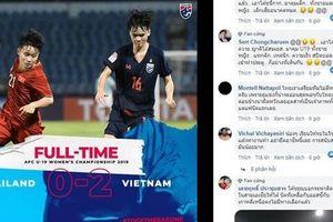 Thất bại trước U19 nữ Việt Nam trên sân nhà, CĐV Thái Lan thêm một lần khóc hận