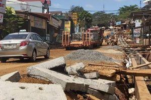 Cty Thịnh Thành Đắk Nông thi công mương thoát nước không đảm bảo ATGT