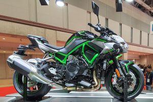Cận cảnh siêu nakedbike Kawasaki Z H2, sức kéo khủng hơn Ninja H2