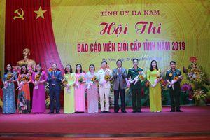 Hội thi Báo cáo viên giỏi tỉnh Hà Nam năm 2019