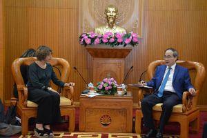 Bí thư Thành ủy TP. Hồ Chí Minh làm việc với Đại sứ Hà Lan về giải pháp chống ngập