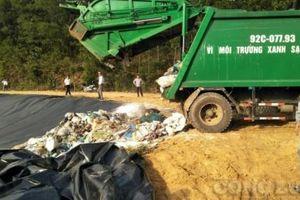 Quảng Nam: Người dân đồng ý mở đường cho xe vào bãi rác ở xã Tam xuân II - huyện Núi Thành