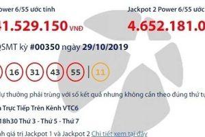 Kết quả xổ số Vietlott 29/10/2019: Hơn 46 tỷ đồng vào túi ai?
