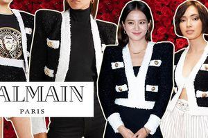 'Đụng hàng' áo khoác Balmain hơn 60 triệu: Châu Bùi cá tính, Jisoo (BLACKPINK) ngọt ngào