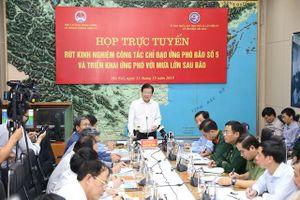 Phó Thủ tướng: Các địa phương phải nghiêm túc rút kinh nghiệm trong ứng phó bão số 5