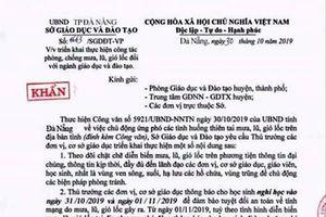 Đà Nẵng: Xuất hiện văn bản giả mạo Sở GD-ĐT cho học sinh nghỉ học vì mưa bão