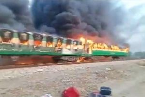 Pakistan: Cháy tàu hỏa, 70 người thiệt mạng, thi thể cháy đen khó nhận dạng