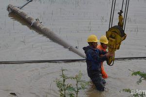 Bão số 5 gây mất điện diện rộng tại 4 tỉnh miền Trung