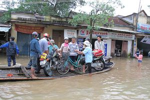 Quảng Ngãi khắc phục thiệt hại do bão số 5 gây ra