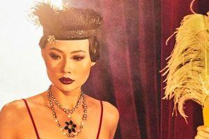 Mai Giang 'Next Top Model' khác lạ với áo dài lấy cảm hứng từ tuxedo của NTK La Phạm