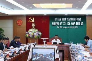 Toàn văn thông cáo Kỳ họp thứ 40 Ủy ban Kiểm tra Trung ương