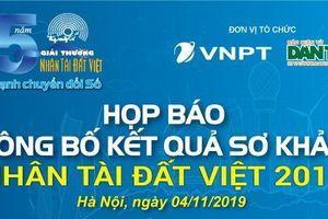 Sắp công bố kết quả sơ khảo 'Giải thưởng Nhân tài Đất Việt 2019'