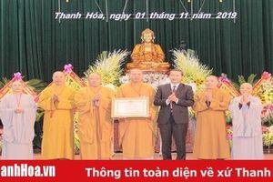 Giáo hội Phật giáo Việt Nam tỉnh Thanh Hóa kỷ niệm 35 năm thành lập và đón nhận Huân chương Lao động hạng Nhì