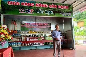 Khai trương gian hàng nông sản sạch và các sản phẩm OCOP huyện Ba Bể, tỉnh Bắc Kạn