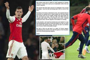 Tiền vệ Granit Xhaka viết tâm thư xin lỗi CĐV Arsenal