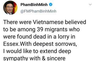 Phó Thủ tướng chia buồn với gia đình các nạn nhân thiệt mạng ở Anh