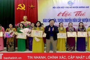 35 thí sinh sôi nổi tham gia Hội thi báo cáo viên phụ nữ Hương Khê