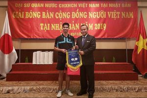 Lần đầu tiên diễn ra Giải bóng bàn dành cho cộng đồng người Việt Nam tại Nhật Bản