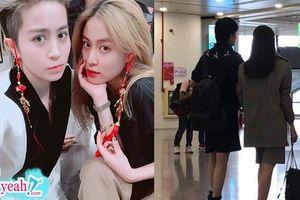 Fan tiếp tục bắt gặp Hoàng Thùy Linh và Gil Lê cặp kè cùng nhau tại sân bay, chỉ nhìn thấy bóng lưng cũng đủ biết đẹp đôi rồi