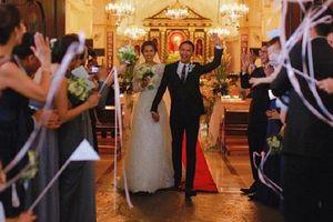 Vợ chồng Tăng Thanh Hà khoe ảnh hiếm trong lễ cưới 7 năm trước