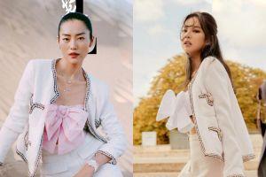 Đụng hàng váy áo Chanel, Liu Wen bị chê phối đồ xấu hơn Jennie