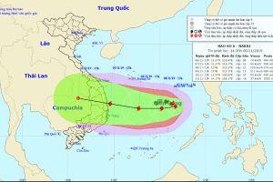 Bão số 6 tăng cấp nhanh, hướng vào Quảng Ngãi - Ninh Thuận