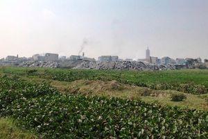 Bắc Ninh: Hanaka dừng dọn dẹp chất thải tại Dự án CCN làng nghề Mẫn Xá