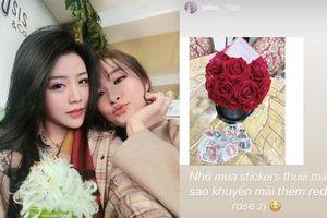 Nối tiếp niềm vui của anh trai, em gái Ông Cao Thắng bất ngờ khoe nhận được hoa với lời nhắn ngọt ngào