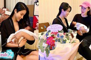 Kỳ Duyên sang thăm mẹ con Diệp Lâm Anh sau sinh, cô nàng tiết lộ đặc điểm đáng yêu của em bé khiến fan thích thú