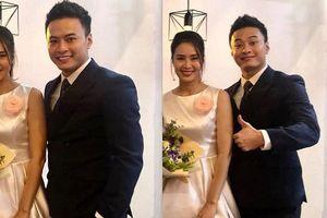 Lộ ảnh cưới của cặp Khuê - Bảo trong phim Hoa hồng trên ngực trái