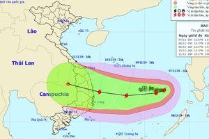 Bão mạnh thêm hướng vào Quảng Ngãi - Khánh Hòa, Nam Trung bộ đề phòng mưa lớn