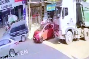 Chạy cắt mặt xe tải, bài học cho lái mới