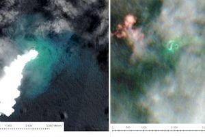Xuất hiện một hòn đảo mới ở Tonga sau khi núi lửa phun trào