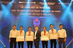 Thừa Thiên-Huế đạt 4 giải tại Cuộc thi sáng tạo thanh thiếu niên nhi đồng toàn quốc