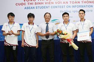 ĐH Duy Tân vô địch 'Sinh viên với An toàn Thông tin ASEAN 2019' khu vực miền Trung