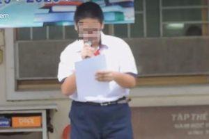 Hiệu phó nhờ người quay clip kỷ luật học sinh rồi đưa lên facebook