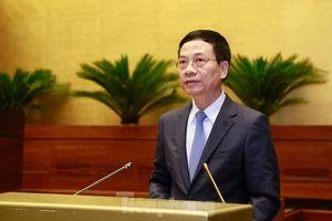 Bộ trưởng Nguyễn Mạnh Hùng: Đại biểu hỏi nhiều vấn đề, xin phép trả lời sau