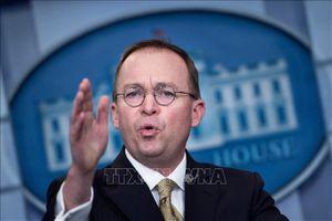 Hạ viện Mỹ triệu tập quyền Chánh Văn phòng Nhà Trắng M. Mulvaney