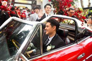 Ông Cao Thắng lái siêu xe từng xuất hiện trong MV 'Ta là của nhau' sang nhà gái rước cô dâu Đông Nhi