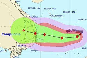 Bão số 6 cực mạnh hướng vào 7 tỉnh miền Trung