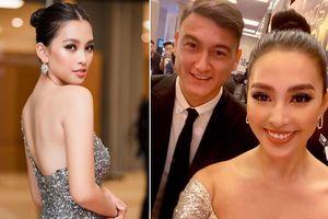 Hoa hậu Tiểu Vy đăng ảnh chúc mừng thủ môn Lâm Tây