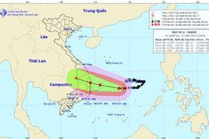Bão số 6 Nakri cách Quảng Ngãi đến Khánh Hòa khoảng 450km, Trung Bộ đêm nay mưa rất to